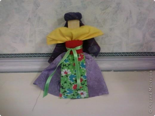 Кукла на щепочке(досочке) фото 1