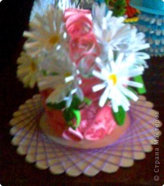 Квиллинг: Домашние ромашки (фантазия моего брата)