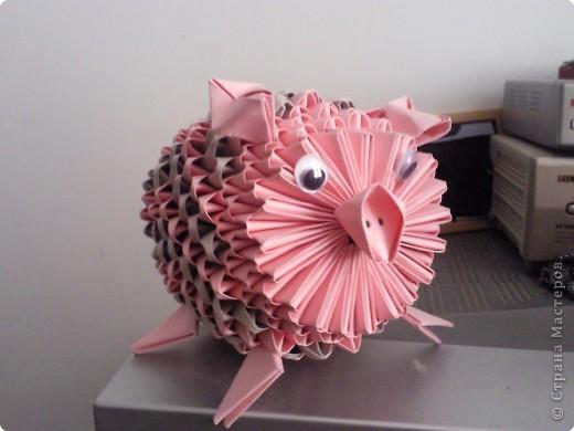 Оригами модульное: ПОРОСЕНОК