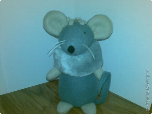 Шуша - мышка,сшита из флиса,воротничок - мех,усики -леска,набивка - синтепон. фото 1