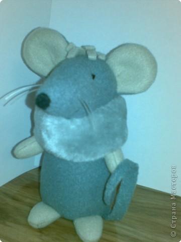 Шуша - мышка,сшита из флиса,воротничок - мех,усики -леска,набивка - синтепон. фото 3
