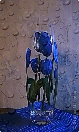 Роспись: Голубые тюльпаны