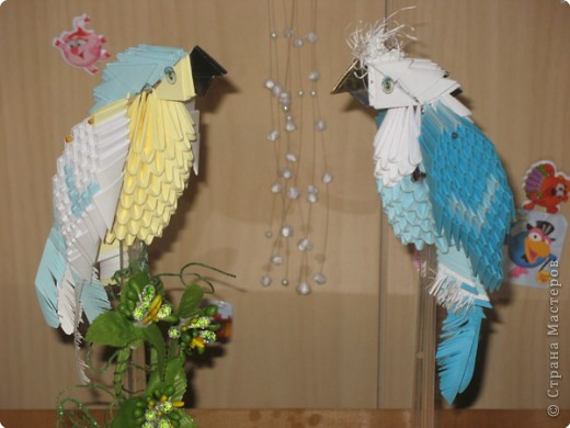 Оригами модульное: попугайчики  фото 1