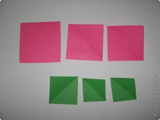 Оригами: И снова РОЗА. МК. фото 2