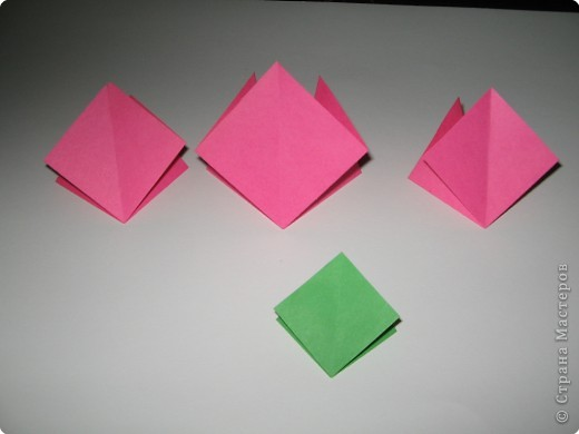 Оригами: И снова РОЗА. МК. фото 3