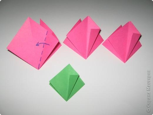 Оригами: И снова РОЗА. МК. фото 4