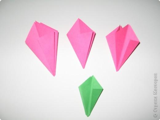 Оригами: И снова РОЗА. МК. фото 5