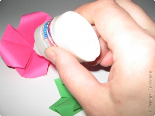 Оригами: И снова РОЗА. МК. фото 9