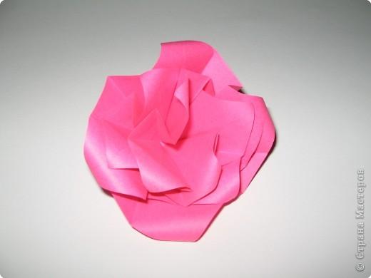 Оригами: И снова РОЗА. МК. фото 10