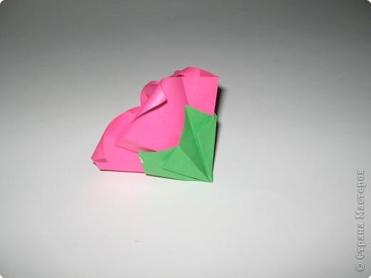 Оригами: И снова РОЗА. МК. фото 11