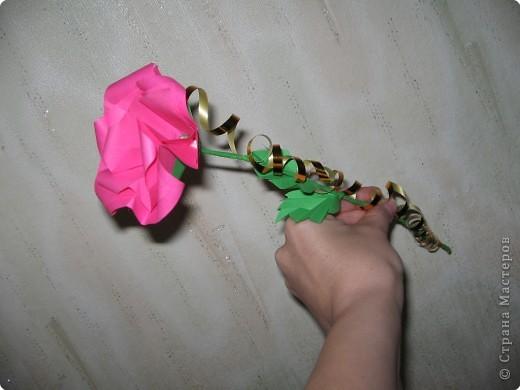 Оригами: И снова РОЗА. МК. фото 19