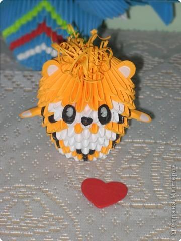 Оригами модульное: маленький тигреночек:) фото 2