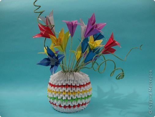 Оригами модульное: летные цветы