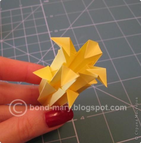 Добрый вечер всем! Мои руки давно к этой кусудаме просились :) Она была создана по схеме (см. ниже) из японского журнала, который я нашла в Инете. фото 6