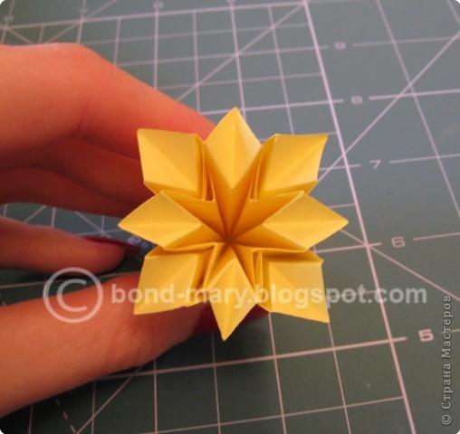 Добрый вечер всем! Мои руки давно к этой кусудаме просились :) Она была создана по схеме (см. ниже) из японского журнала, который я нашла в Инете. фото 7
