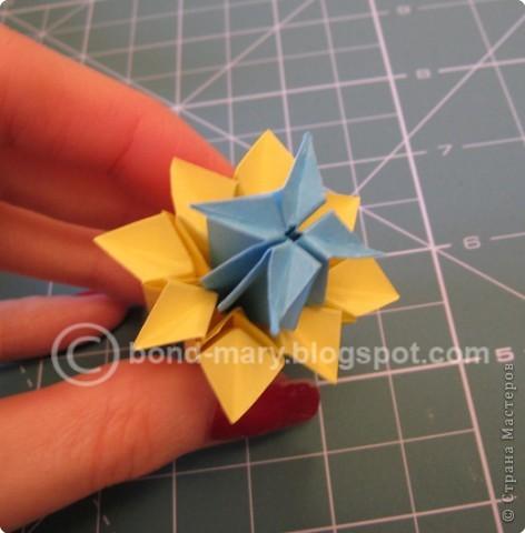 Добрый вечер всем! Мои руки давно к этой кусудаме просились :) Она была создана по схеме (см. ниже) из японского журнала, который я нашла в Инете. фото 8