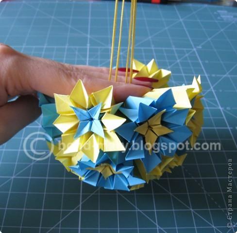 Добрый вечер всем! Мои руки давно к этой кусудаме просились :) Она была создана по схеме (см. ниже) из японского журнала, который я нашла в Инете. фото 18