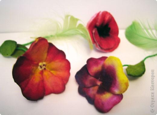 Не определена: Цветы из ватных дисков фото 3