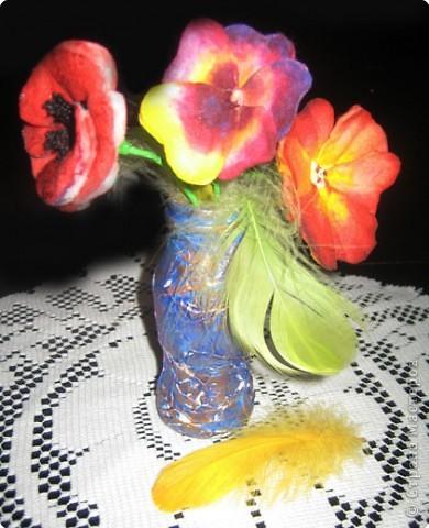 Не определена: Цветы из ватных дисков фото 1