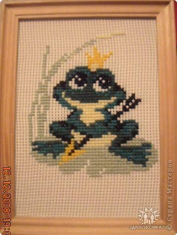 Вышивка крестом: Царевня-лягушка )))