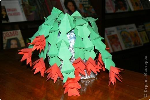 Оригами: Декабрист в цвету