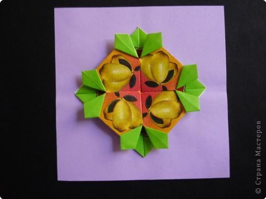 Оригами: Орнаменты из чайных пакетиков фото 5