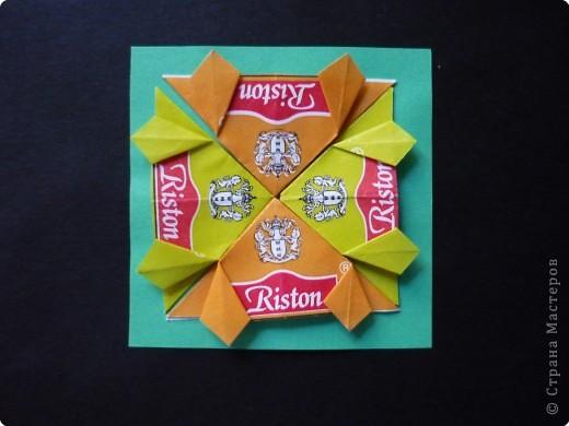 Оригами: Орнаменты из чайных пакетиков фото 8