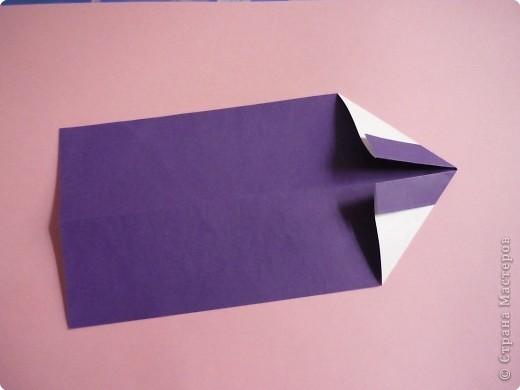 "Оригами: Закладка ""Карандаш"" МК фото 5"