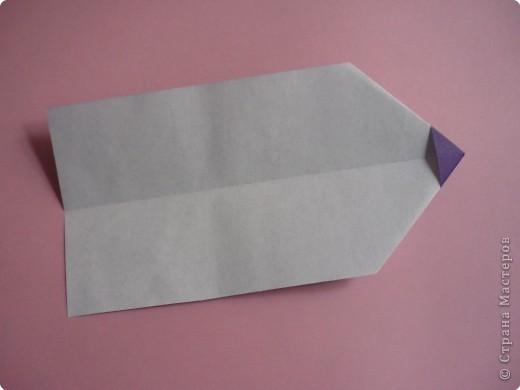 "Оригами: Закладка ""Карандаш"" МК фото 6"