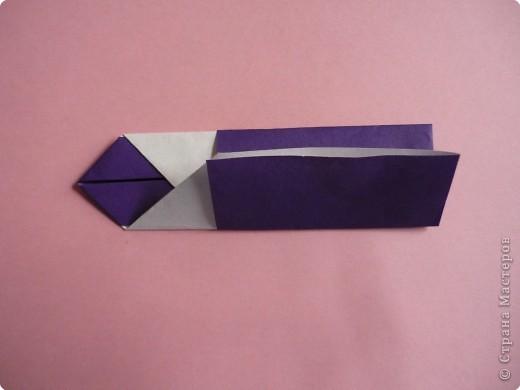 "Оригами: Закладка ""Карандаш"" МК фото 10"