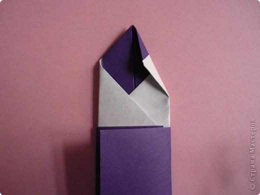 "Оригами: Закладка ""Карандаш"" МК фото 12"