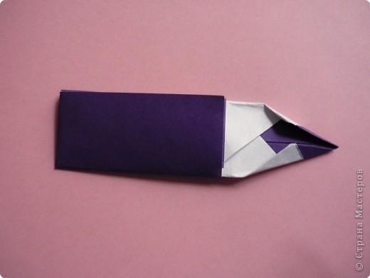 "Оригами: Закладка ""Карандаш"" МК фото 13"