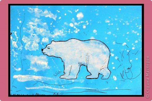 Рисование и живопись: Мишка на севере
