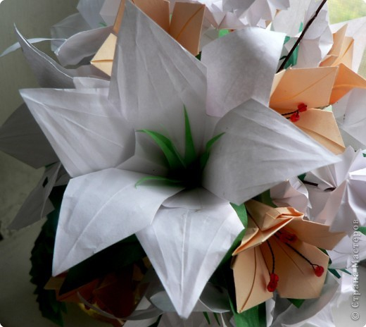 Лилии бывают разные... Вот такой цветок с 6 лепестками попробуем сделать. фото 1