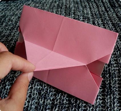 Делюсь самой любимой своей моделью оригами, изящной, легкой в исполнении  и практичной одновременно.  Автор шедевра - Ларри Харт.   фото 18