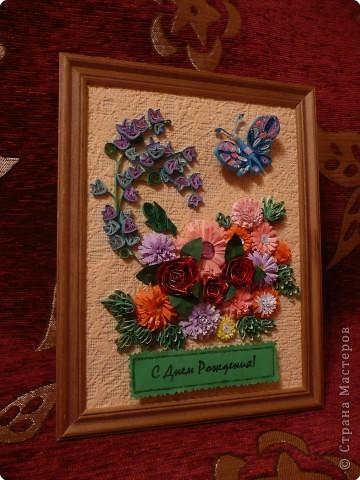 Квиллинг: Подарок бабушке