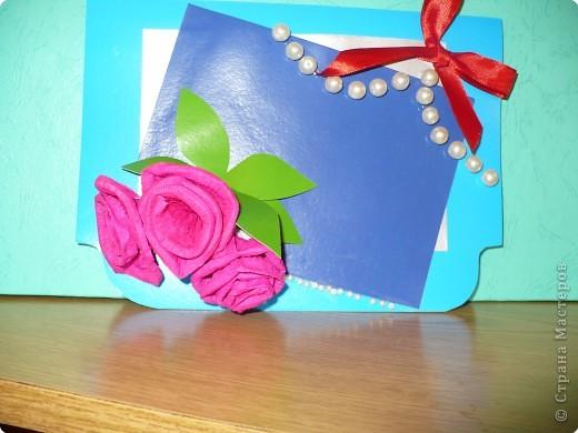 Аппликация: открытка с розами