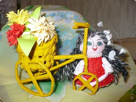 Плетение: За цветами на велосипеде фото 3