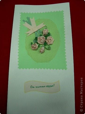 Квиллинг: позравительные открытки  фото 5