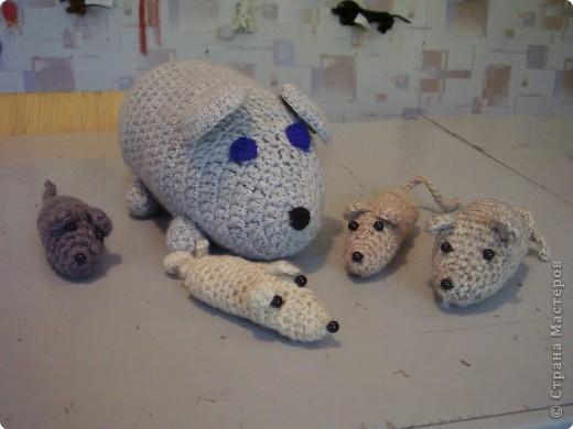 Вязание крючком: Семейство Мышастиков