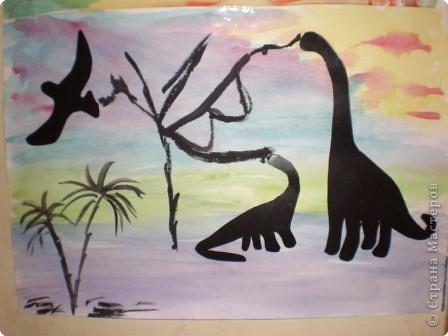Аппликация: Закат в стране динозавров