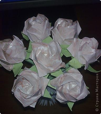 Оригами: Букет роз Кавасаки)))