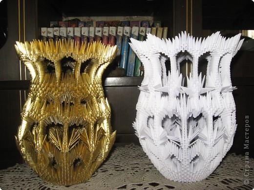 Оригами модульное: Вазы