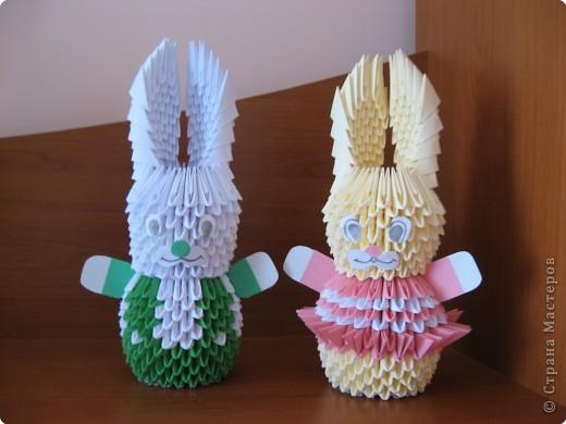 Оригами модульное: Зайчата