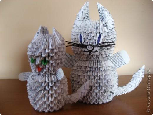 Оригами модульное: Котики
