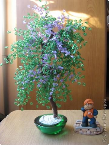 Бисероплетение: Цветущее деревце