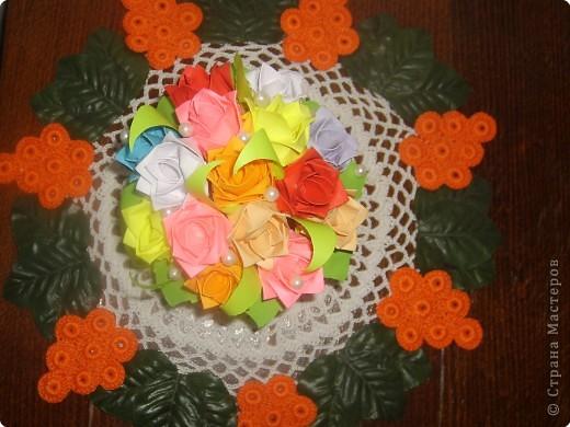 Оригами модульное: Вазочка ко дню учителя фото 2