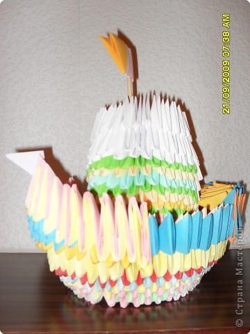 Оригами модульное: Кораблик...