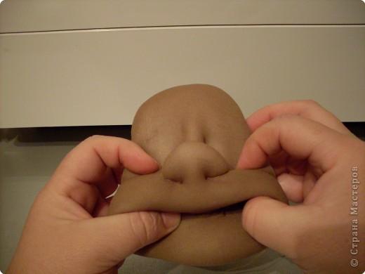 Мастер-класс Шитьё Делаем куклу Личико   Ткань фото 23