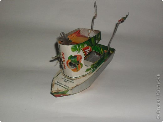кораблик из пакетика из-под сока  Ваня 12 лет фото 1